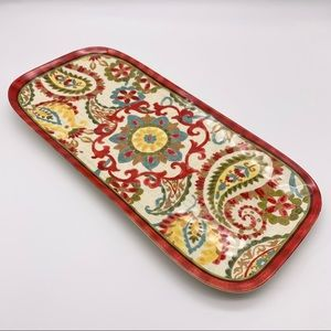 """BETTER HOMES & GARDENS Serving Tray Paisley 7""""x15"""""""